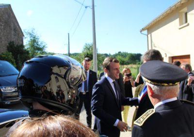 Emmanuel Macron à Châteauponsac (36)