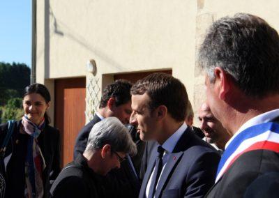 Emmanuel Macron à Châteauponsac (37)