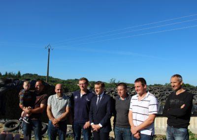 Emmanuel Macron à Châteauponsac (38)