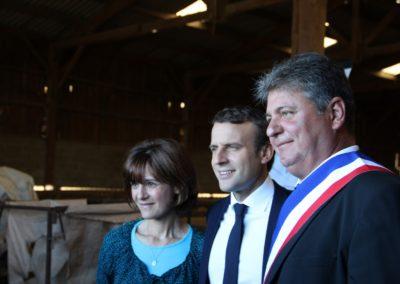 Emmanuel Macron à Châteauponsac (40)