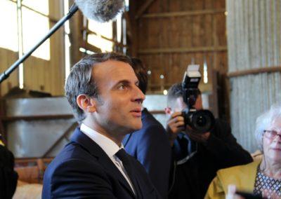 Emmanuel Macron à Châteauponsac (46)