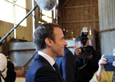 Emmanuel Macron à Châteauponsac (48)