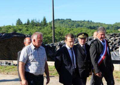 Emmanuel Macron à Châteauponsac (52)