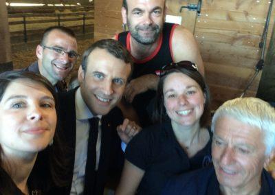 Le Président Emmanuel Macron à Châteauponsac (1)