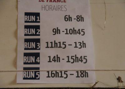 Horraires runs