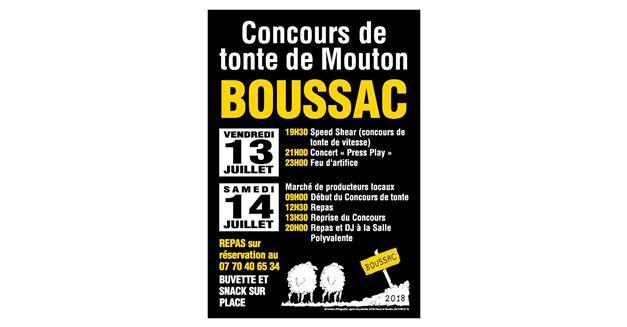 Information presse : Concours de tonte de Boussac