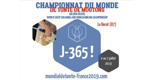 Countdown to 2019 Golden Shear's World Championship in France !