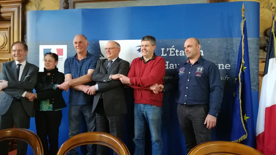 Golden Shears World Council welcomed by the Prefet of the Haute Vienne