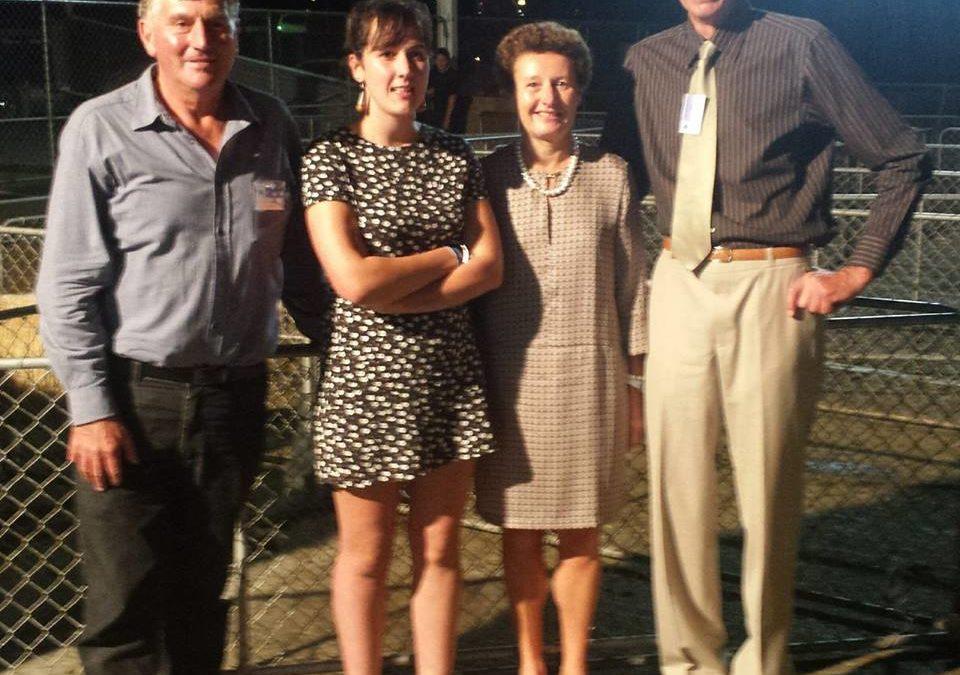 French Ambassador at the Golden Shears Championship in Masterton, New Zealand
