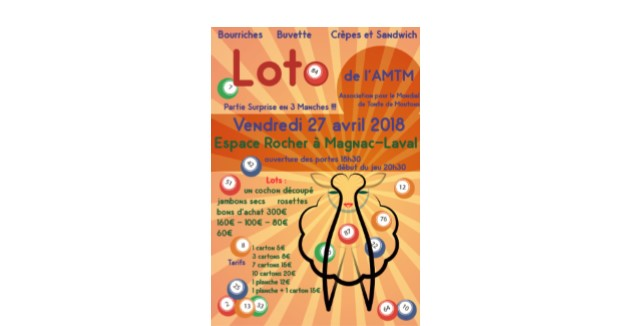 The AMTM is organising a loto !